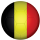 Belgium Football Flag 25mm Keyring